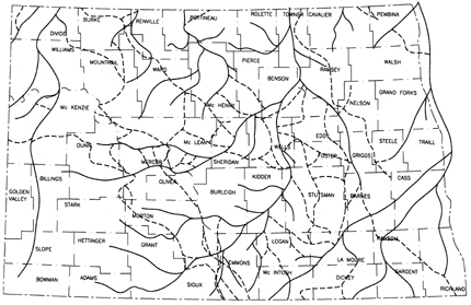 Department Of Mineral Resources Geological Survey - North dakota rivers map