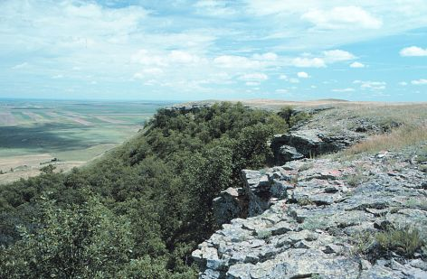 The northeast edge of East Rainy Butte. Both of the caves mentioned in this article are located in this area.