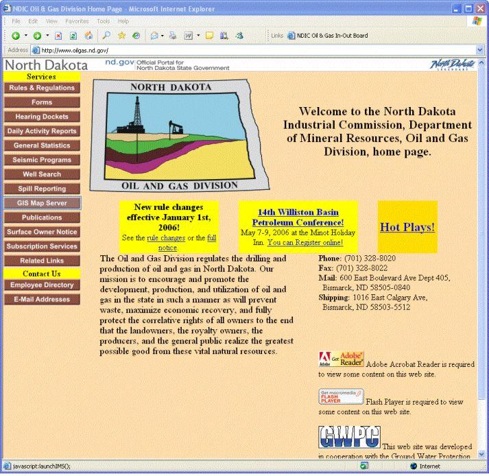 Petroleum Site Map Example: Oil & Gas Website Demo